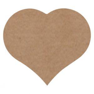 050. Stickers hart kraft