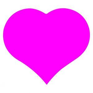 050. Stickers hart roze