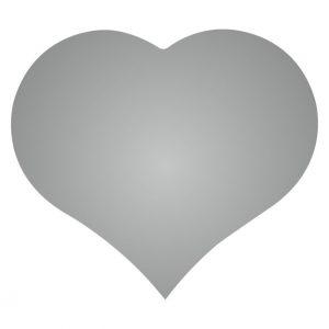 050. Stickers hart zilver