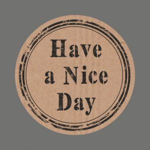 050. Stickers kraft tekst 'Have a Nice Day'