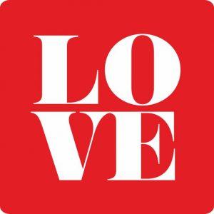 050. Stickers tekst 'LOVE'