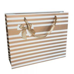 001. Verpakking streep met strik goud (12 st.)