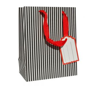 001. Packaging black / white stripe fine (12 pcs.)
