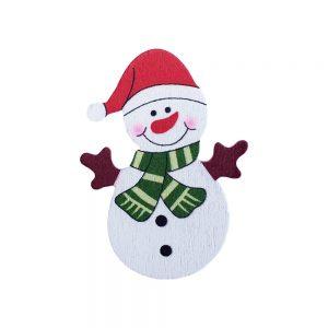 024. Geschenkplakker sneeuwpop
