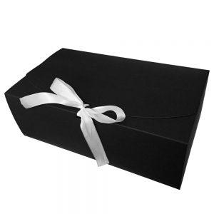 006. Box zwart met witte strik (20 st.)