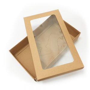006. Box met venster kraft (1 st.)