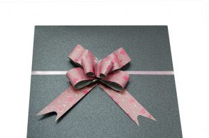 019. Strik small metallic hart licht roze