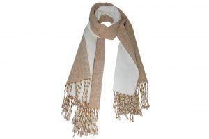 030. Sjaal gemêleerd bruin