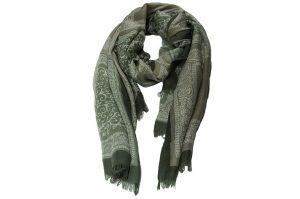 030. Sjaal print groen