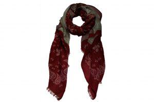 030. Sjaal print rood