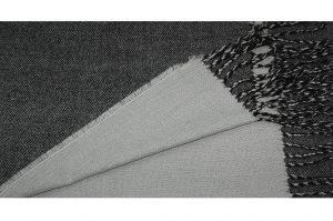 030. Sjaal gemêleerd zwart