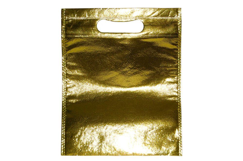 non woven - gouden glossy tas