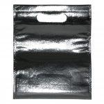 non woven - zilveren glossy tas