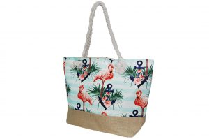 012. Strandtas flamingo orange