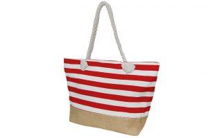 012. Strandtas rood/wit