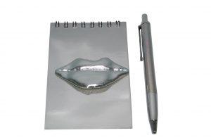 034. Notitieblokje lippen met pen (12 st.)