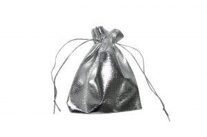 008. Organza verpakking hoogglans zilver (25 st.)