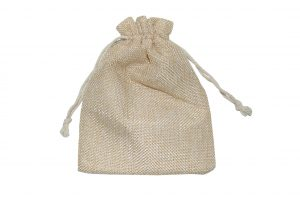 008. Organza packaging jute (10 pcs.)