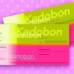 051. Kadobon effen groen/roze