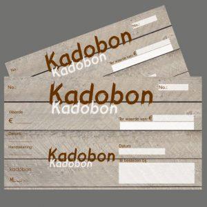 051. Kadobon houtprint bruin