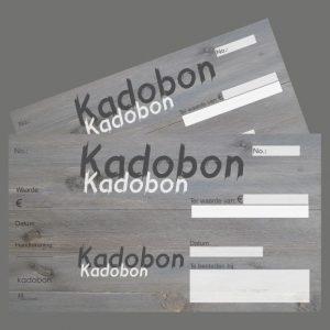 051. Kadobon houtprint grijs
