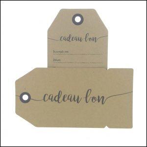 051. Kadobon kraft label