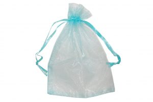 008. Organza packaging light blue (50 pcs.)