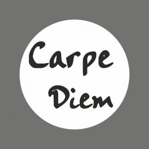 050. Stickers tekst 'Carpe Diem'