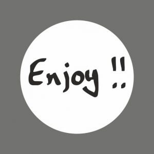 050. Stickers tekst 'Enjoy'