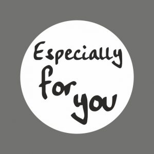 050. Stickers tekst 'Especially For You'