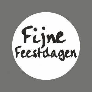 050. Stickers tekst 'Fijne Feestdagen'
