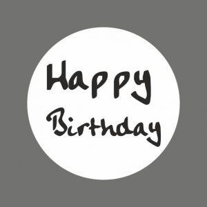 050. Stickers tekst 'Happy Birthday'
