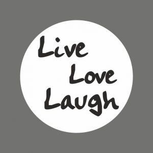 050. Stickers tekst 'Live Love Laugh'