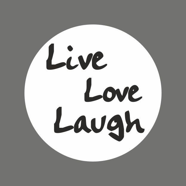 Trapsticker *Love, Live, Laugh | teksten om te printen ...
