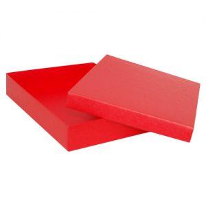 007. Kadodoos rood met inlay(24 st.)