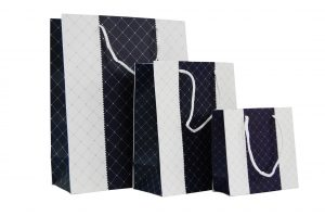 001. Packaging duo checked dark blue (12 pcs.)
