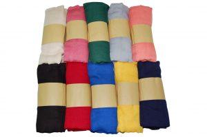 030. Zomersjaals uni kleuren