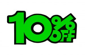 052. Kortingskaart 10% groen