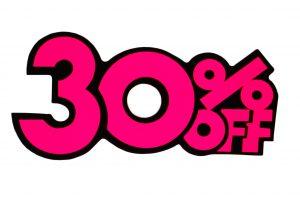 052. Kortingskaart 30% roze