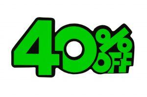 052. Kortingskaart 40% groen