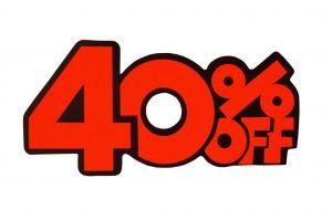 052. Kortingskaart 40% oranje