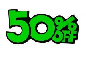 052. Kortingskaart 50% groen