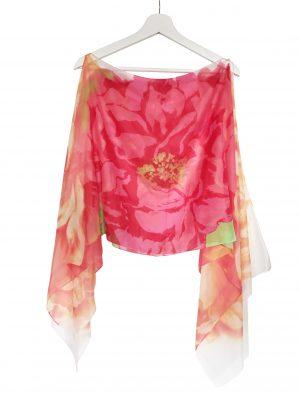 045. Poncho flower zalm