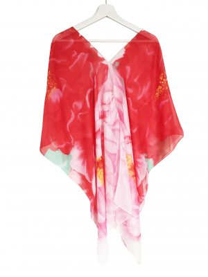 045. Poncho flower rood