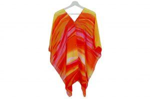 045. Poncho streep oranje