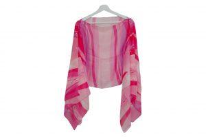 045. Poncho streep roze