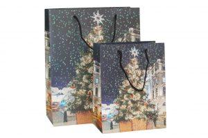 003. Kerstverpakking 2018 Kerstboom blauw (12 st.)