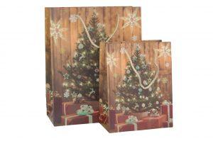 003. Kerstverpakking 2018 Kerstboom bruin (12 st.)