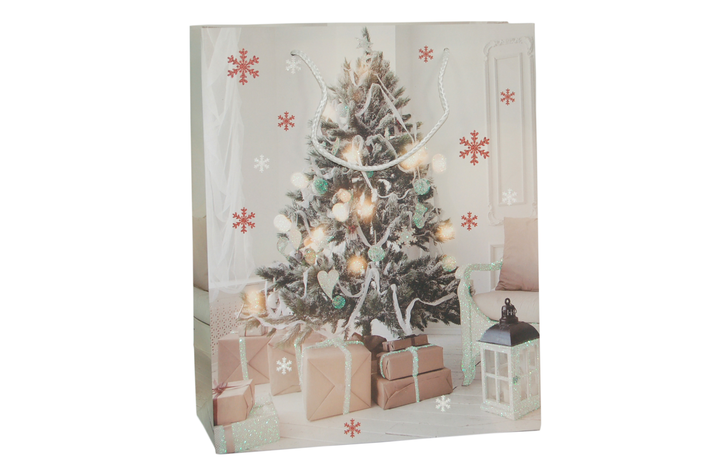 003. Christmas packaging 2018 Christmas tree white (12 pcs ...