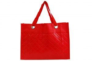 015. Non woven shopper/beach rood (1 st.)